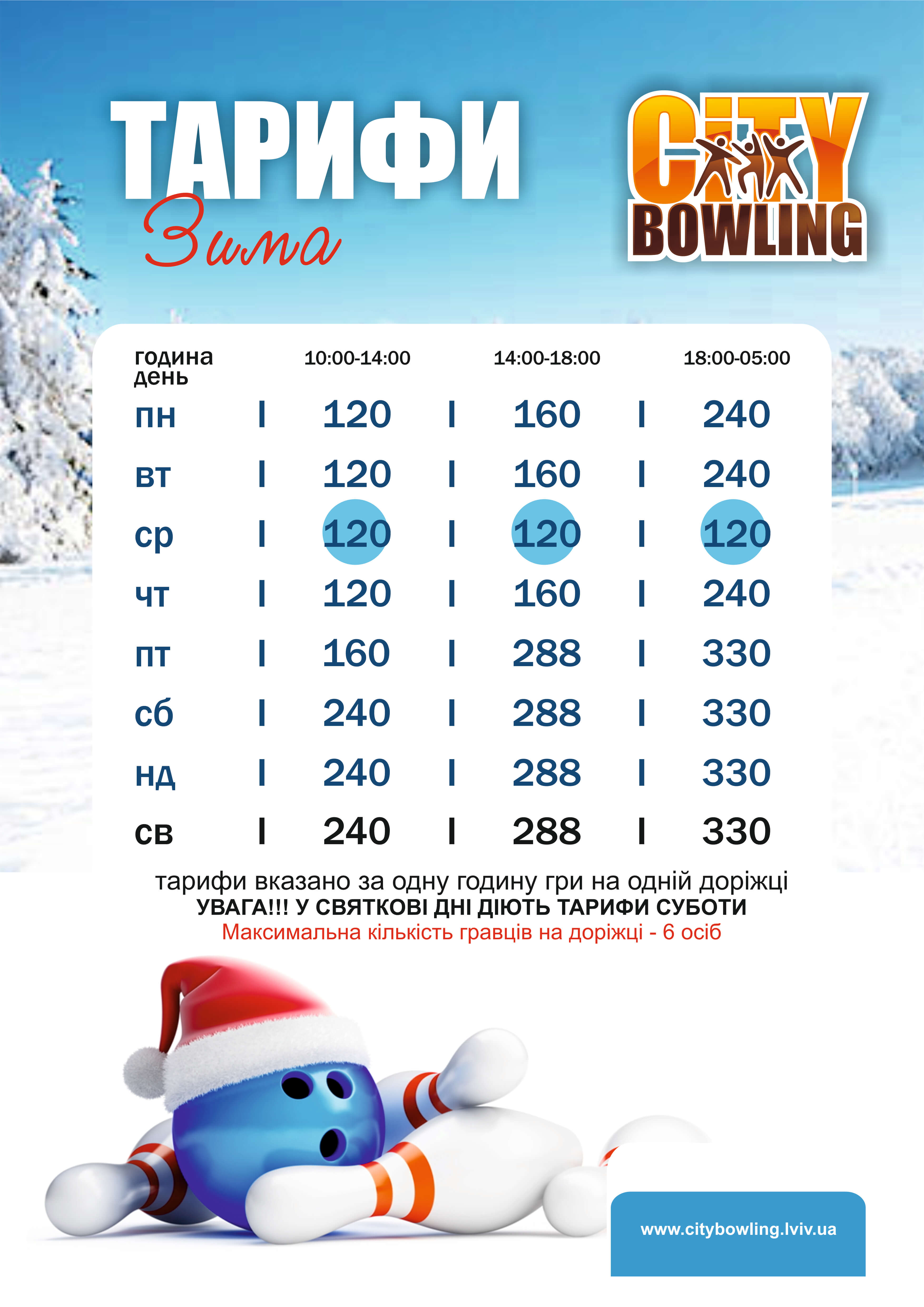 В City Bowling - зимові ціни!